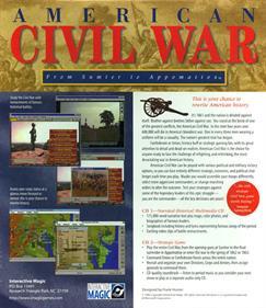 American Civil War: From Sumter to Appomattox - Box - Back