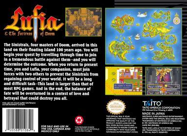 Lufia & the Fortress of Doom - Box - Back