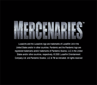 Mercenaries: Playground of Destruction - Screenshot - Game Title