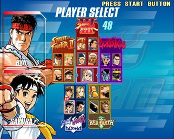 Capcom Fighting Evolution - Screenshot - Game Select