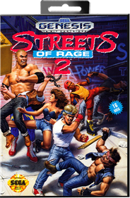 Streets of Rage 2 - Box - Front - Reconstructed