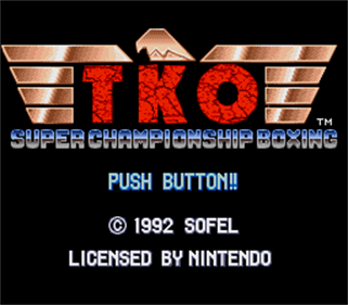 TKO Super Championship Boxing - Screenshot - Game Title