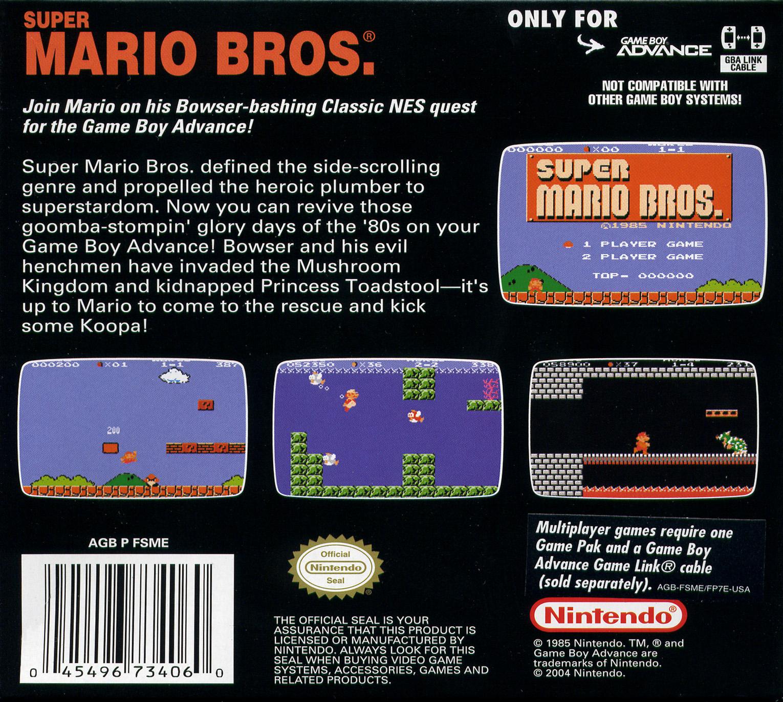 Classic NES Series: Super Mario Bros. Details