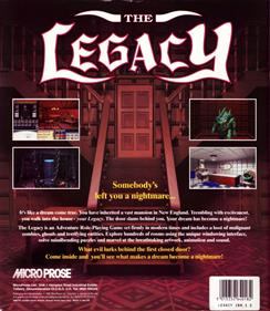 The Legacy: Realm of Terror - Box - Back