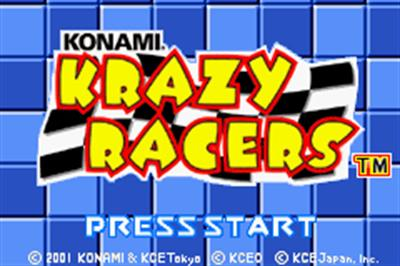 Konami Krazy Racers - Screenshot - Game Title