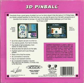 3D Pinball - Box - Back