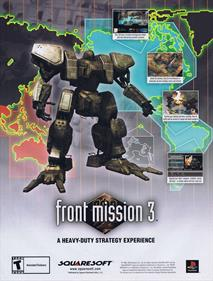 Front Mission 3 - Advertisement Flyer - Front