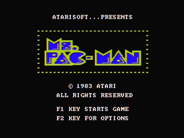 Ms. Pac-Man - Screenshot - Game Title
