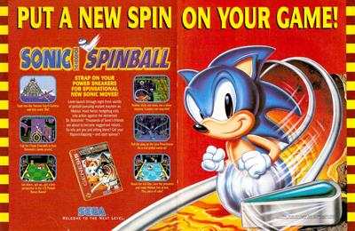 Sonic the Hedgehog Spinball - Advertisement Flyer - Front