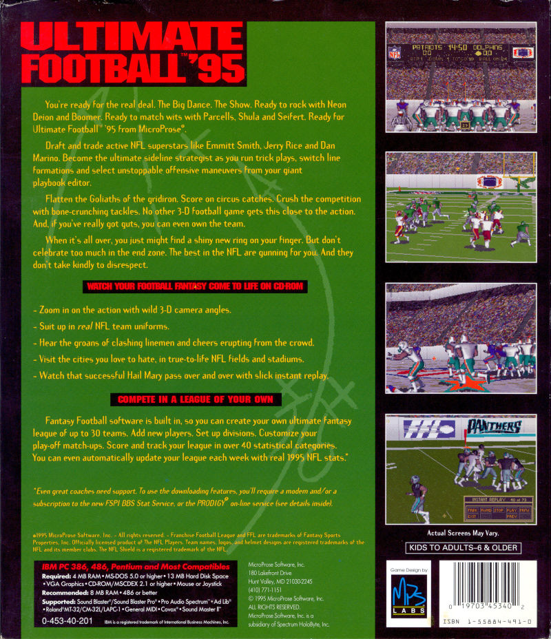 Ultimate Football '95 Details - LaunchBox Games Database