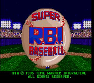 Super R.B.I. Baseball - Screenshot - Game Title