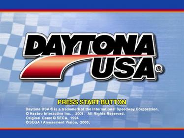 Daytona USA 2001 - Screenshot - Game Title
