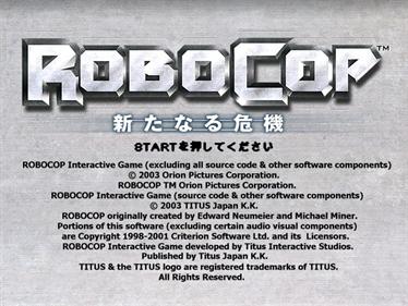 RoboCop: Aratanaru Kiki - Screenshot - Game Title