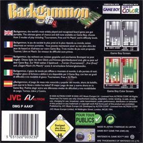 Backgammon - Box - Back