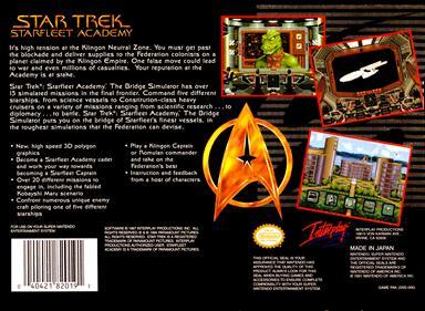 Star Trek: Starfleet Academy: Starship Bridge Simulator - Box - Back