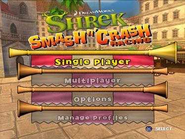 Shrek Smash n' Crash Racing - Screenshot - Game Select