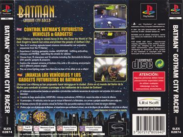 Batman: Gotham City Racer - Box - Back