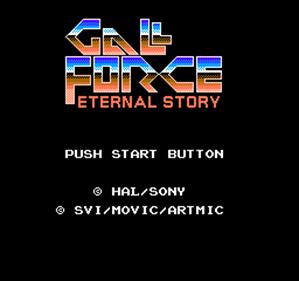 Gall Force: Eternal Story - Screenshot - Game Title