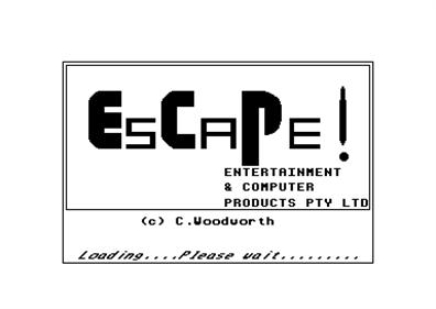 Escape! - Screenshot - Game Title