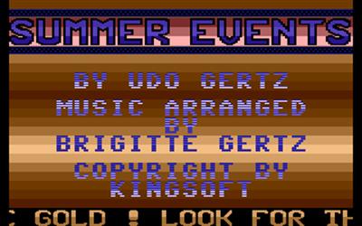 Summer Events - Screenshot - Game Title