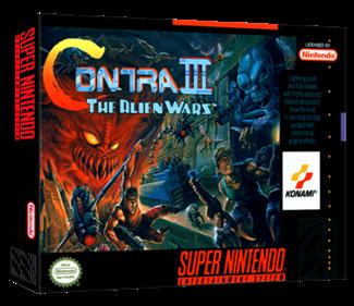 Contra III: The Alien Wars - Box - 3D