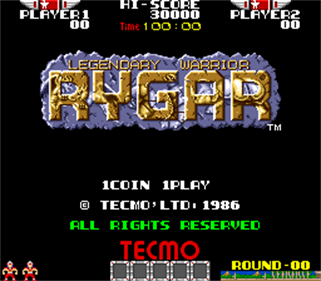 Rygar - Screenshot - Game Title