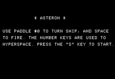 Asteron - Screenshot - Game Title