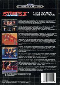 Streets of Rage 2 - Box - Back