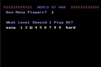 World at War - Screenshot - Game Select