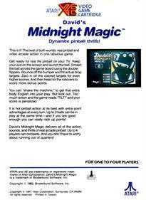 David's Midnight Magic - Box - Back