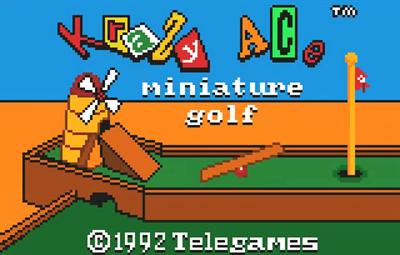 Krazy Ace Miniature Golf - Screenshot - Game Title