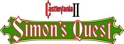 Castlevania II: Simon's Quest - Clear Logo