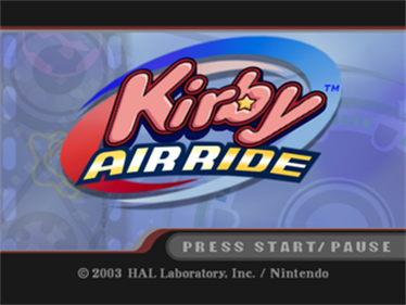Kirby Air Ride - Screenshot - Game Title