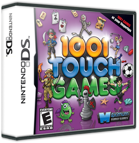1001 Touch Games - Box - 3D