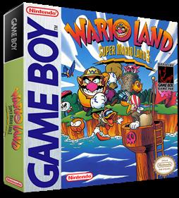 Wario Land: Super Mario Land 3 - Box - 3D