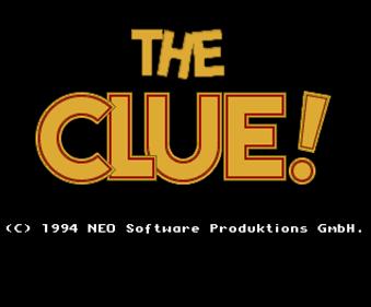 The Clue! - Screenshot - Game Title