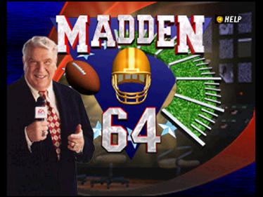 Madden Football 64 - Screenshot - Game Title