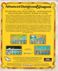 Dragons of Flame - Box - Back