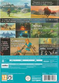 The Legend of Zelda: Breath of the Wild - Box - Back