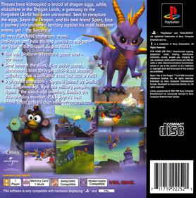 Spyro: Year of the Dragon - Box - Back