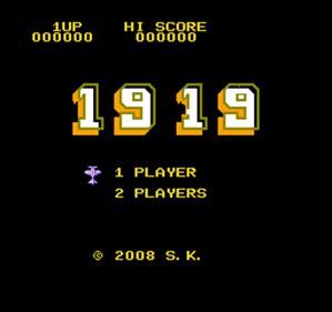 1919 - Screenshot - Game Title