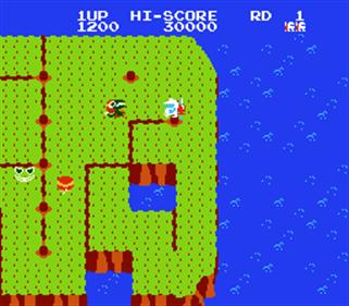 Dig Dug II - Screenshot - Gameplay