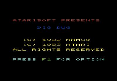 Dig Dug - Screenshot - Game Title