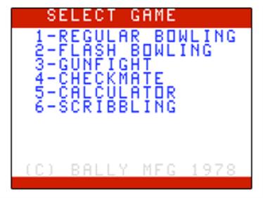 Bowling - Screenshot - Game Title