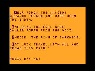 The Ring of Darkness - Screenshot - Game Title