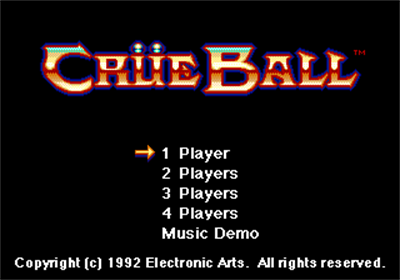 Crüe Ball - Screenshot - Game Title