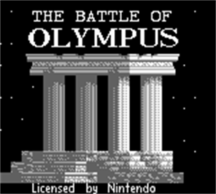 The Battle of Olympus - Screenshot - Game Title