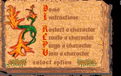 Questron II - Screenshot - Game Select