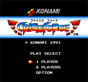Crisis Force - Screenshot - Game Title