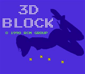 3D Block - Screenshot - Game Title
